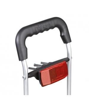 Распорка с отражателем для крепления сумки-тележки к велосипеду
